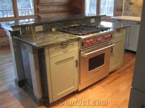 Tropical Green Granite Kitchen Island Top From United