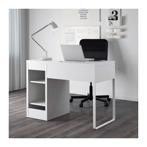 bureau laptop micke desk white 105x50 cm ikea