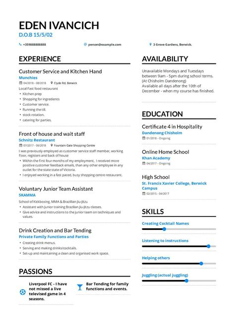 What Should A High School Resume Look Like by The Best 2019 Fresher Resume Formats And Sles