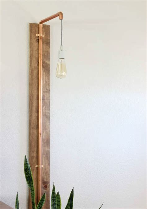 diy wall sconce copper wall sconce