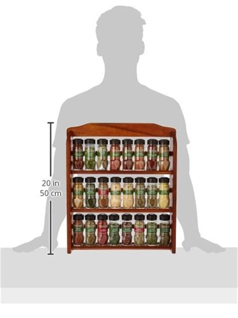 24 Spice Rack by Mccormick Gourmet Spice Rack Three Tier Wood 24 Count