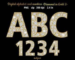 123 clipart etsy With jewelry numbers and letters