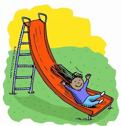 Playground Slide Clipart Clip Park Teacher Children
