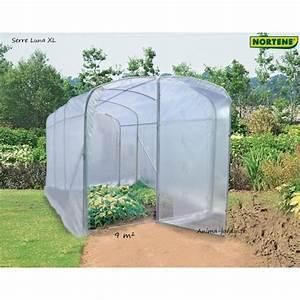 Serre Tunnel De Jardin : serre tunnel luna xl 9m serre de jardin nortene achat ~ Melissatoandfro.com Idées de Décoration