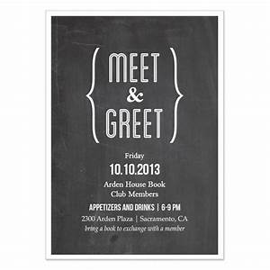 Meet and Greet Chalkboard, Invitations & Cards on Pingg.com