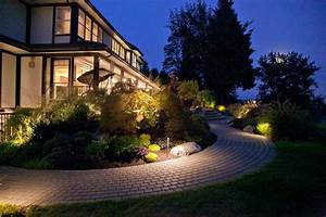 Outdoor landscape lighting images by university sprinklers