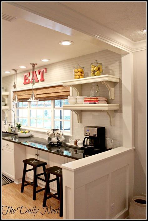 Kitchen Living Room Half Wall by Lightened Up Home Reveal Kitchens And Dining Rooms