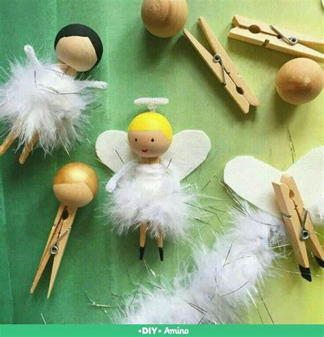 clothespin angel manualidades navidenas manualidades