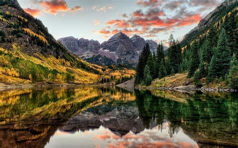 nature, Lake, Mountains, Reflection, Digital Art, Trees ...