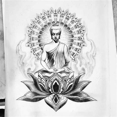 Tatouage Bouddha Dessin