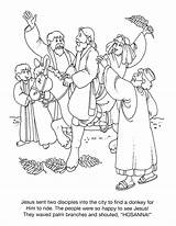 Palm Sunday Coloring Pages Preschoolers Getcolorings Template Credit Larger Getdrawings sketch template