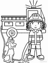 Coloring Pages Fireman Preschool Firefighter Fire Printable Sheets Truck Cool2bkids Woman sketch template
