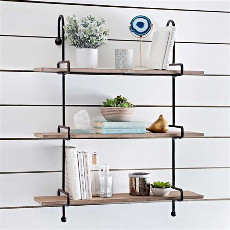 Wooden Slatpipe Shelf Kirklands