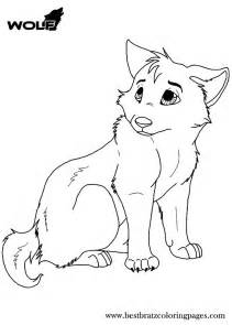 Free Printable Wolf Coloring Page