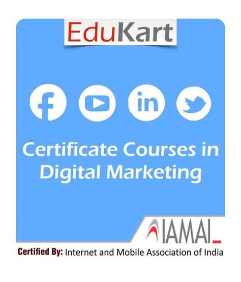 top 10 digital marketing certifications certificate course in digital marketing certified by
