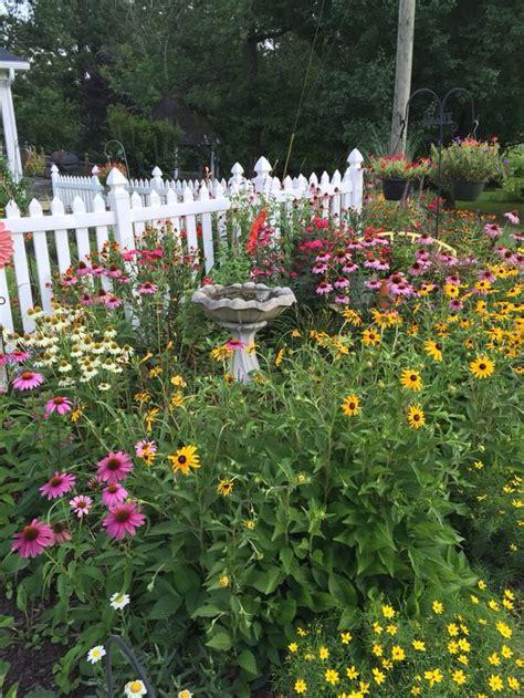 picket fence garden  gardens