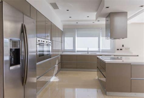 tile for kitchens contemporary high gloss metallic kitchen cocina otras 2751