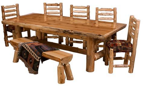 log table and chairs cedar log dining table pcdt01 cedar log dining room