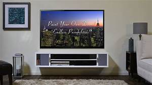 Wall Mounted Lcd Tv Design Ideas Ryan House Cabinets ~ idolza