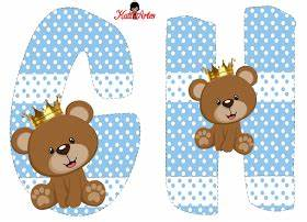 Prince Bear Alphabet Alfabeto De Osito Prncipe Letras