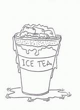 Tea Coloring Pages Iced Ice Drawing Sheets Drink Sheet Printable Crocodile Sketch Paintingvalley Plate sketch template