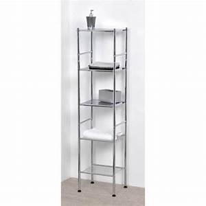 meuble colonne metal achat vente meuble colonne metal With meuble salle de bain chrome