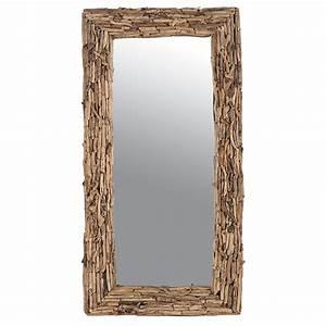 Miroir Bois Flotté : miroir rectangulaire naturel en bois flott petit prix ~ Teatrodelosmanantiales.com Idées de Décoration