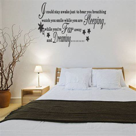 bedroom wall lyrics best wall sticker quotes for bedrooms small room