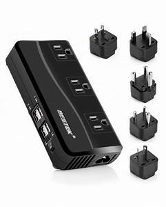 Travel Power Converter 220v To 110v With Type G  D  M  Au  Us
