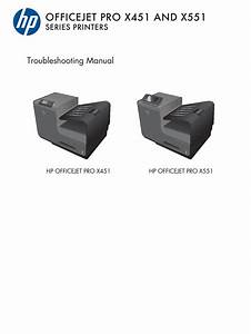 Hp Officejet Pro X451 X551 Troubleshooting Manual Pdf Download