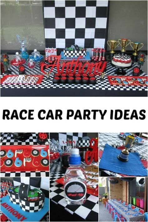 race car themed  birthday party spaceships  laser