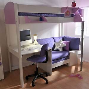 loft bed with desk and couch bedroom ideas pinterest With loft bed with sofa and desk underneath