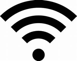 Black Wifi Icon Clip Art at Clker.com - vector clip art ...