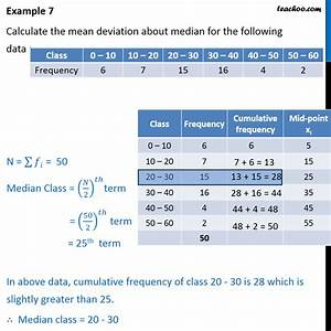 Calculate Payroll Taxes 2020 Example 7 Calculate Mean Deviation About Median Class 11