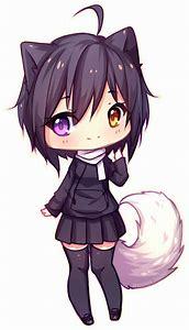 Cute Anime Chibi Wolf Girl Drawings