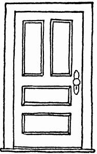 Door Clipart Black And White - Clipart Library