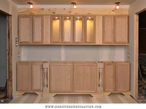 how to install upper cabinets wall of cabinets finished for now