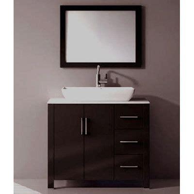 36 quot single free standing bathroom vanity set with mirror