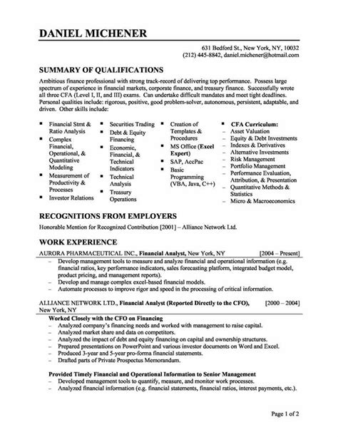 Great Resume Sles by 25 Great Resume Objective Statement Exles Sle