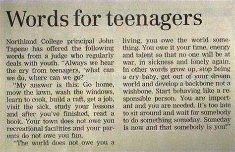 Going From Advice by Advice For Teenagers Words Take On New Meaning With