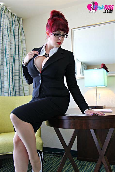 kayla kiss busty red hot secretary