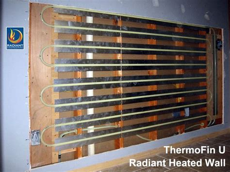 radiant heated wall  thermofin heat transfer plates