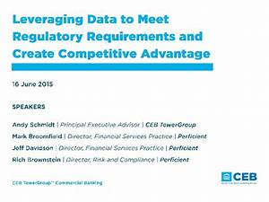 Leveraging Data in Financial Services to Meet Regulatory ...