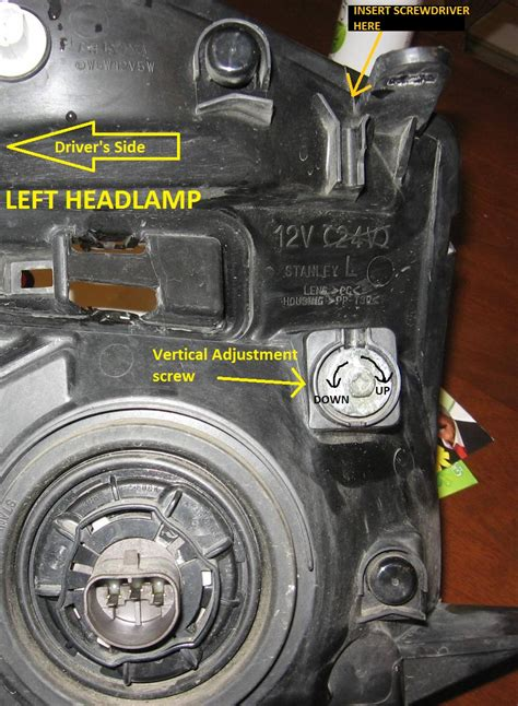 headlight adjustment equinox chevrolet forum chevy