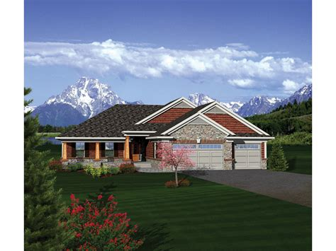 Dobford Craftsman Ranch Home Plan 051d-0684