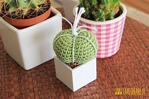 Uncinetto creativo bomboniere: la pianta grassa Farecreare