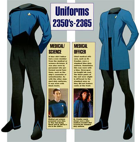 uniforms trek star clothing medical starfleet uniform generation tos clothes dress tng rank underwear space insignia astris scientia ex favorite