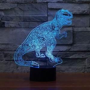 Monster Color Changing Usb Led Light 3d Illusion Night Light Led Light 7 Color With Touch