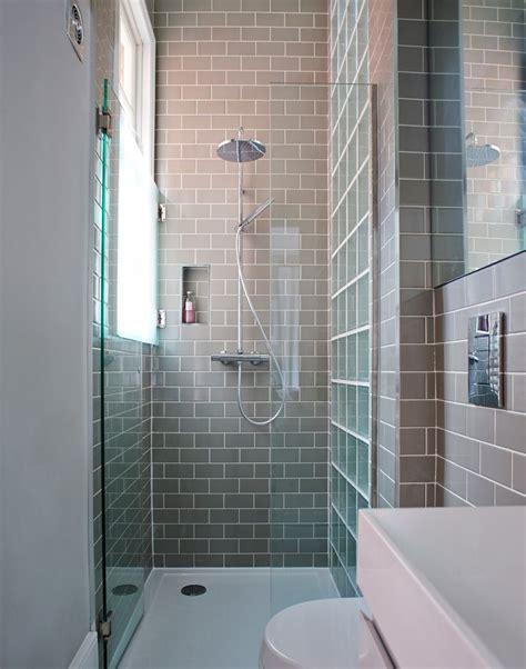 modern grey tiled shower cubicle bathrooms shower