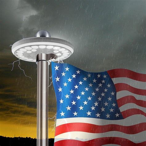 solar flag pole light ayy ip waterproof outdoor auto